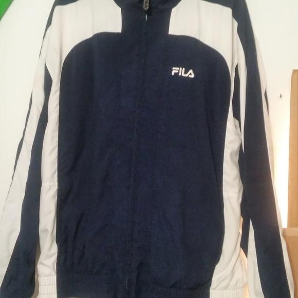 f40843e92079 Fila Pants | Sale Tracksuit Navy Blue And White | Poshmark